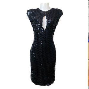 VTG 1970's Climax Ellene Warren Sequined Dress S